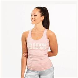 Better Bodies | Chrystie T-Back Pale Pink | Tanktop til kvinder