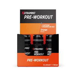 Nutramino | Pre-Workout Shot Orange 12x60ml | Energi til træning