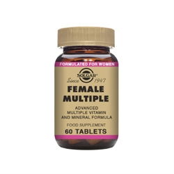 Solgar | Female Multiple 60 tabs | Multivitamin Kosttilskud