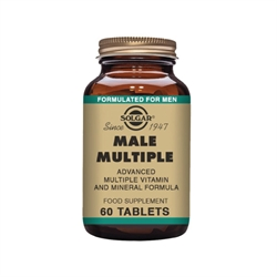 Solgar | Male Multiple 60 tabs | Multivitamin Kosttilskud